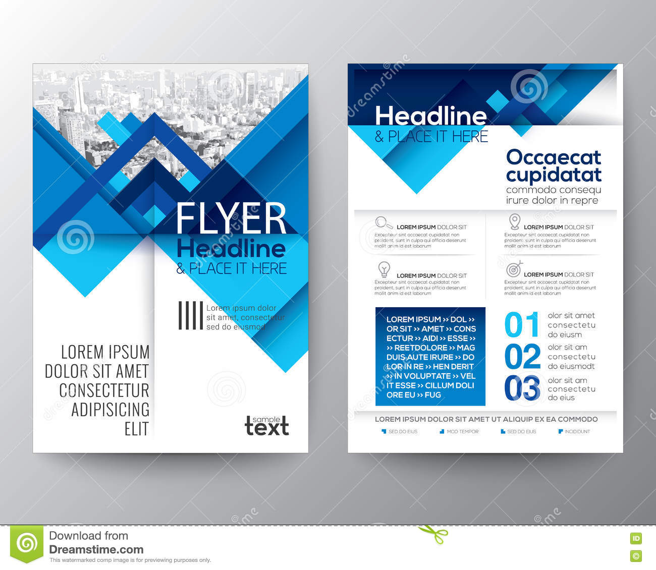 Poster design free template - Abstract Background Brochure Design Flyer Geometric Layout Poster
