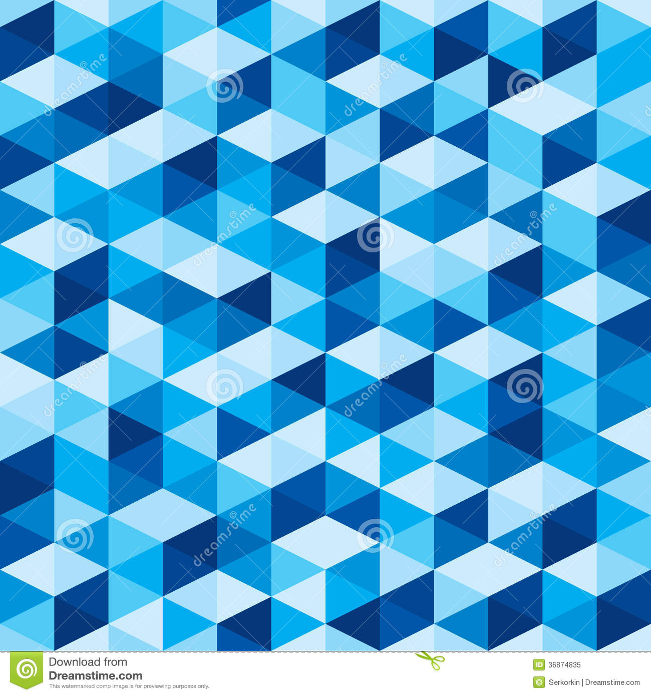 Abstract geometric background seamless blue pattern for Different wallpaper designs