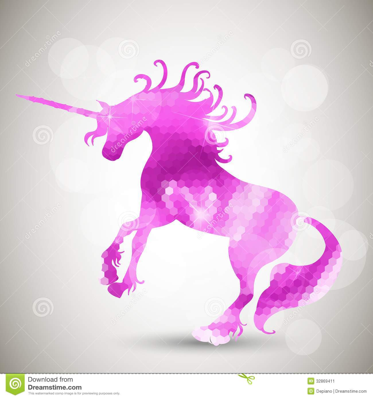 Abstract Geometric Background With Unicorn Stock Image
