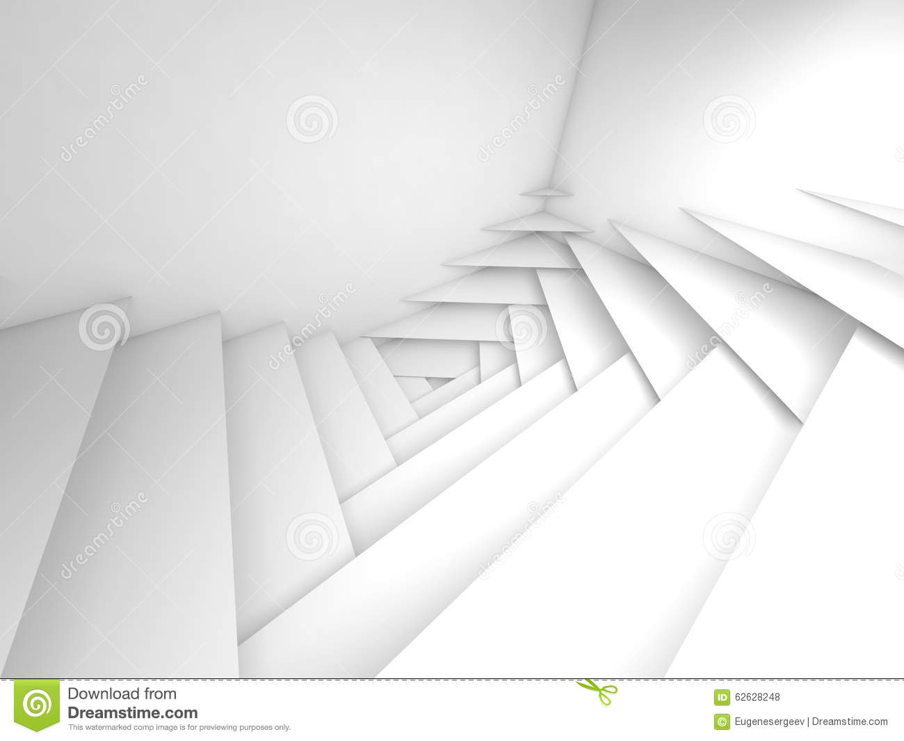 White 3d Background Abstract: Abstract Geometric Background. White Layers 3d Art Stock