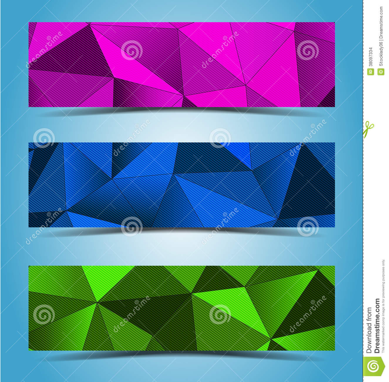 Abstract geometric banner design
