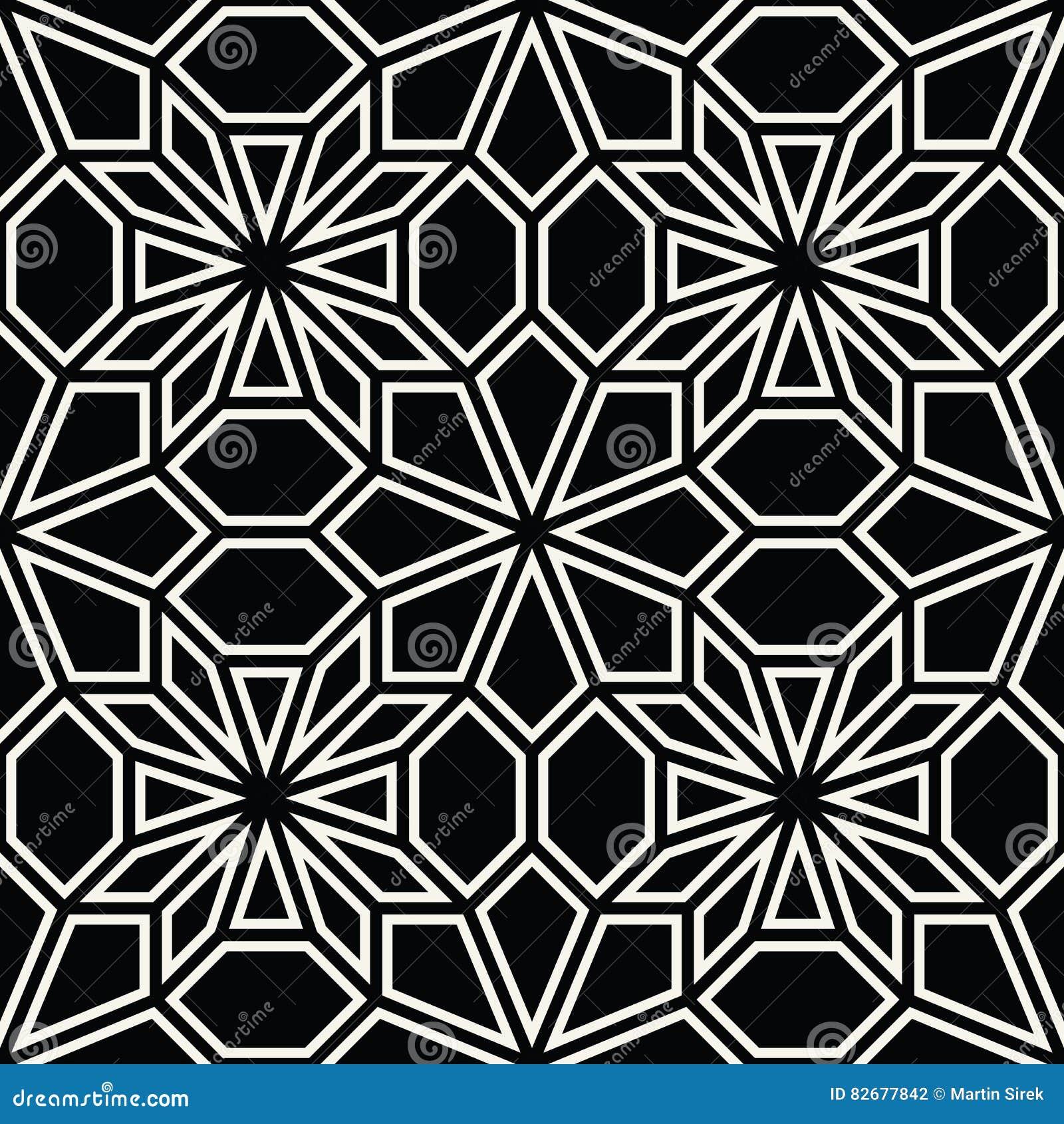 Deco Noir Et Blanc abstract geometric black and white deco art pillow mosaic