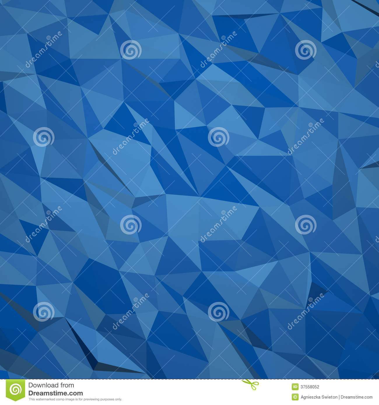 abstract geometric blue background  3d render with