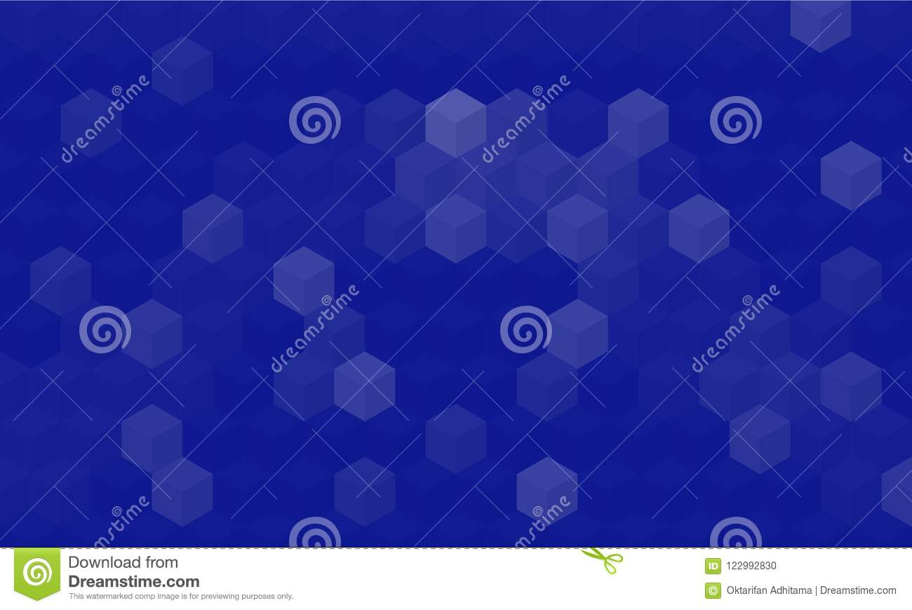 Abstract Geometric With Blue Background