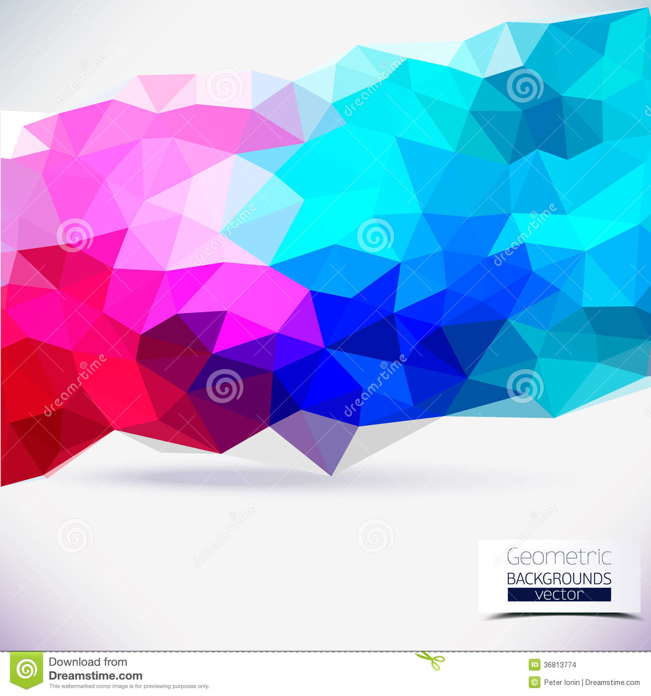 abstract geometric colorful background stock vector illustration