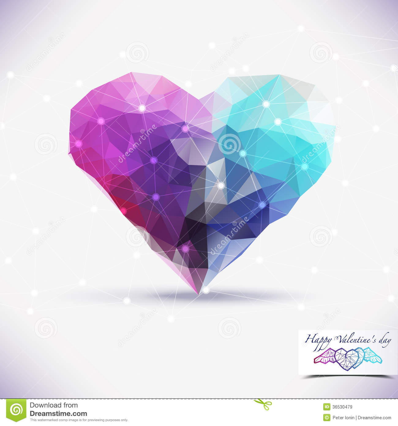 abstract geometric colorful background heart shape stock vector