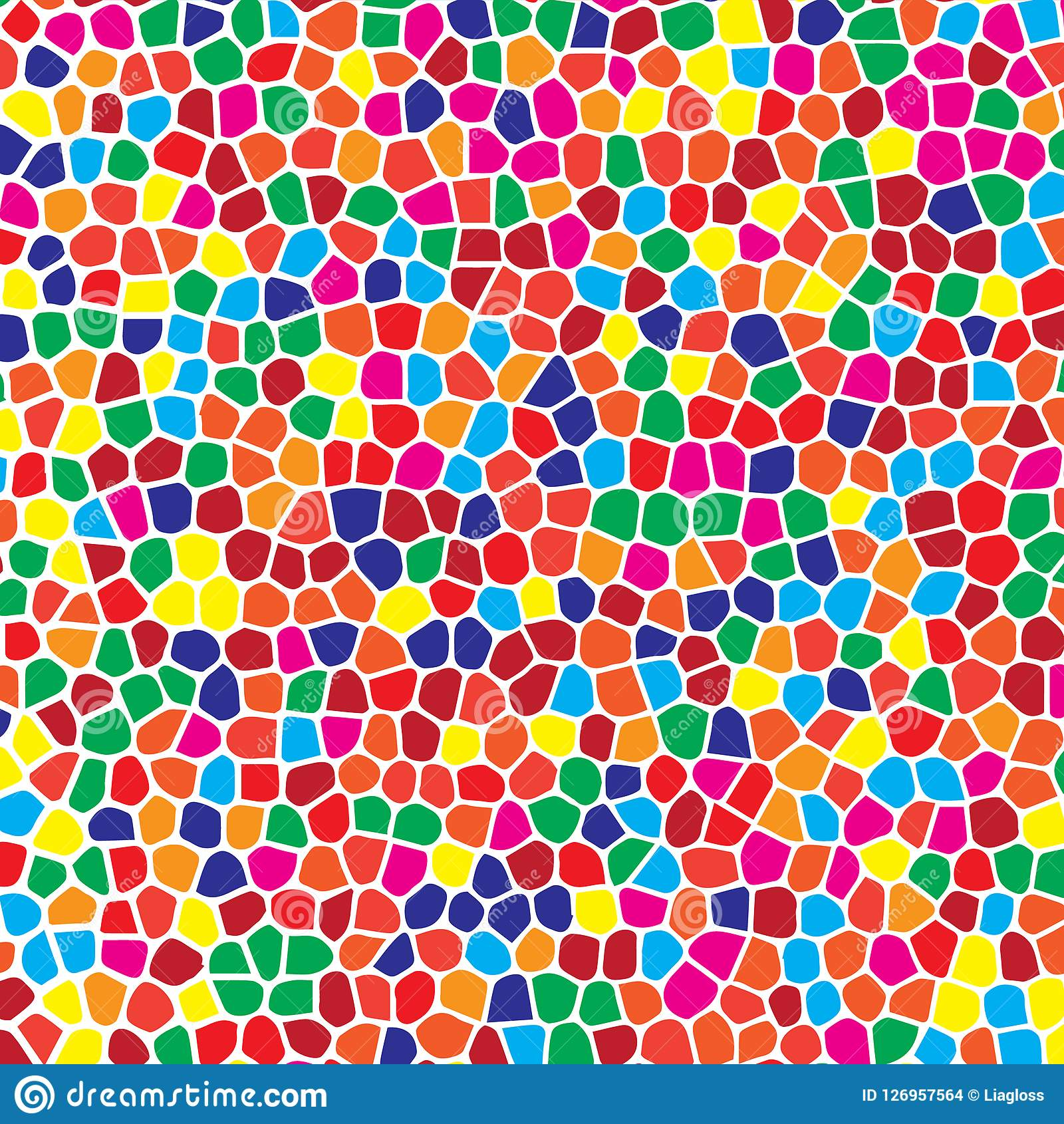 Free Colorful Geometric Wallpaper: Abstract Geometric Colorful Mosaic Seamless Pattern For