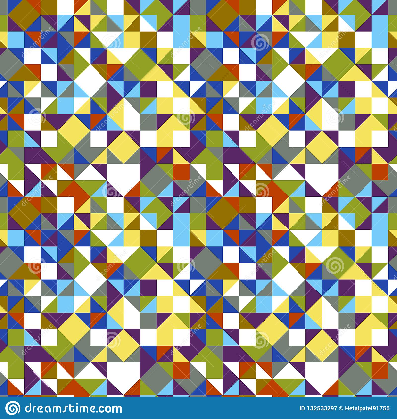 Geometrical triangle tiled pattern background