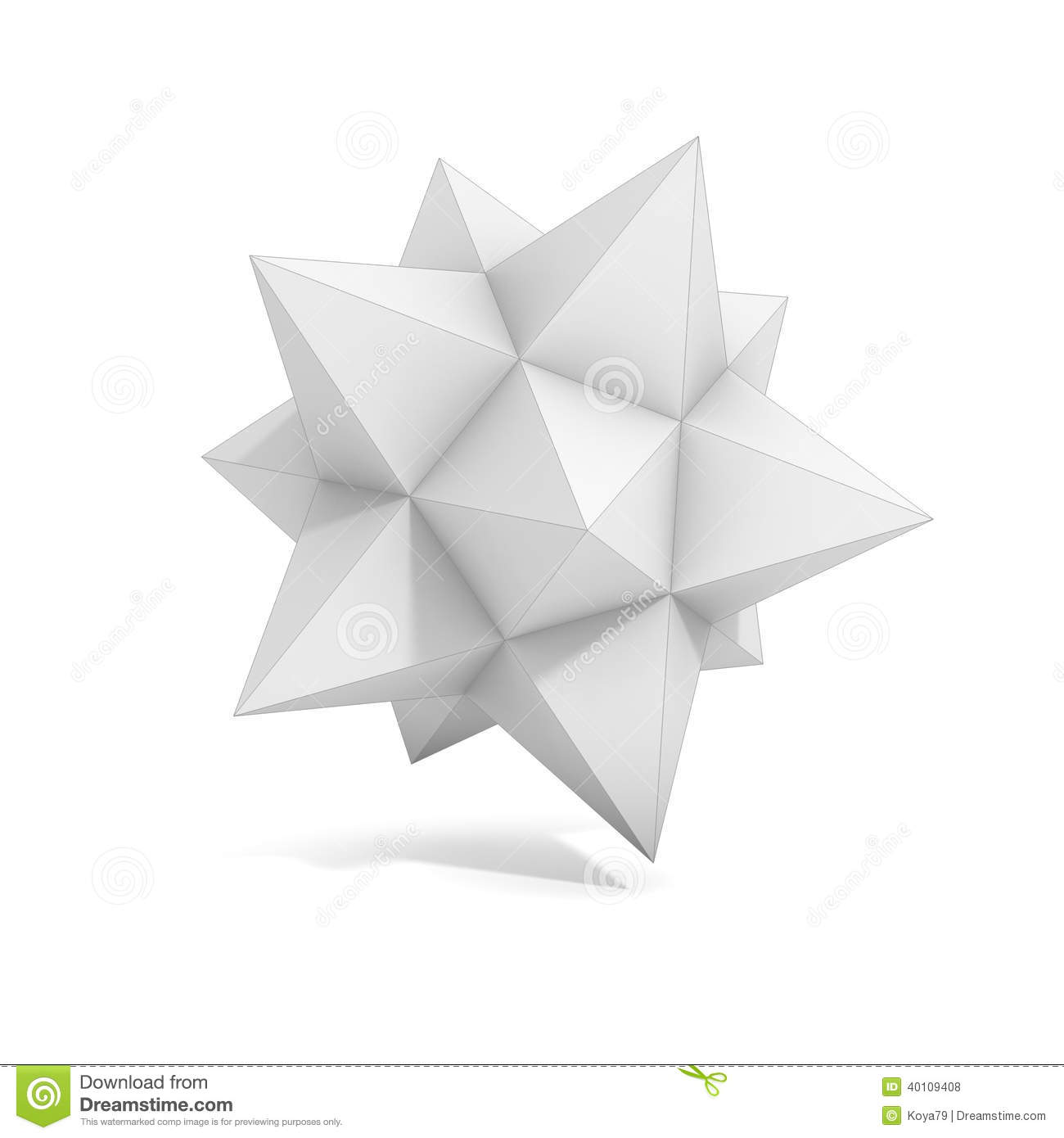 Abstract Geometric 3d Object Stock Illustration - Image ... - photo#36
