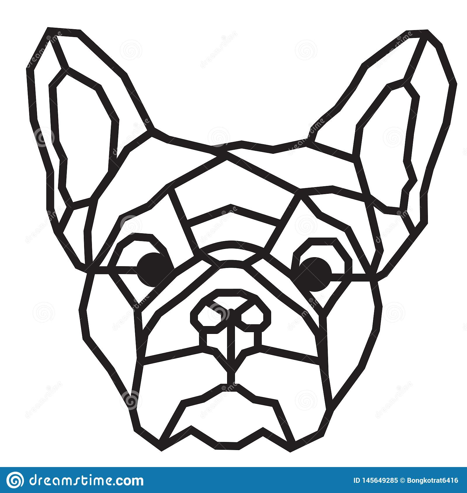 Abstract Geometric Dog Icon Logo Design Inspiration For ...