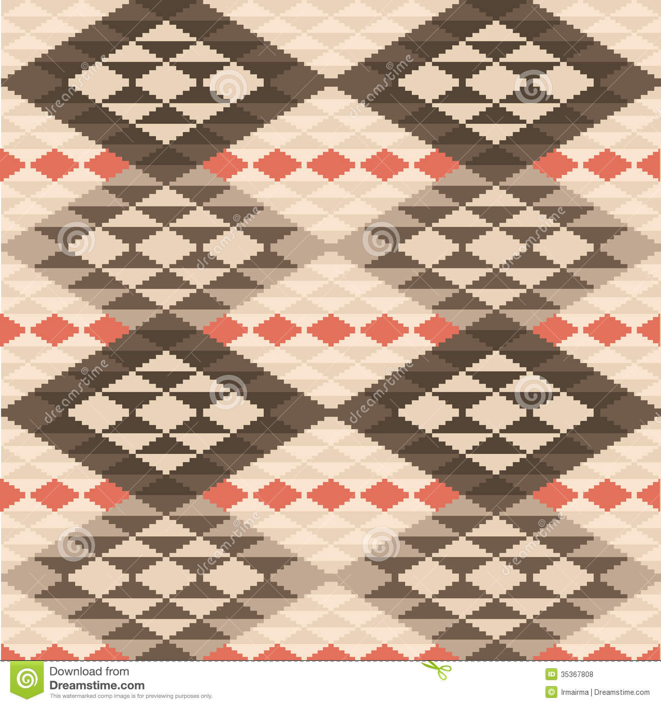 Abstract Geometric Ethnic Rug Pattern Royalty Free Stock