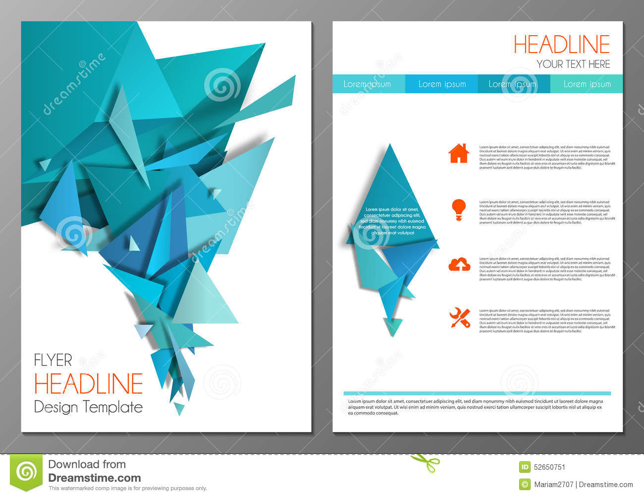 Abstract Geometric Flyer Design Template Vector Image – Geometric Flyer Template