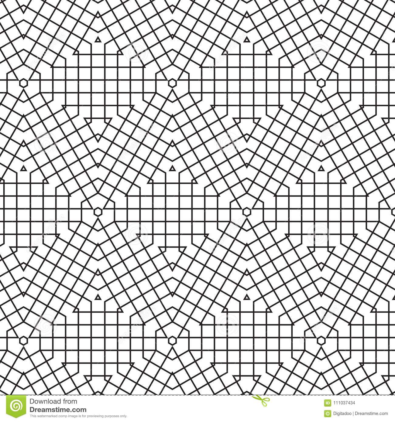 abstract geometric cube triangle lines grid mesh vector seamless