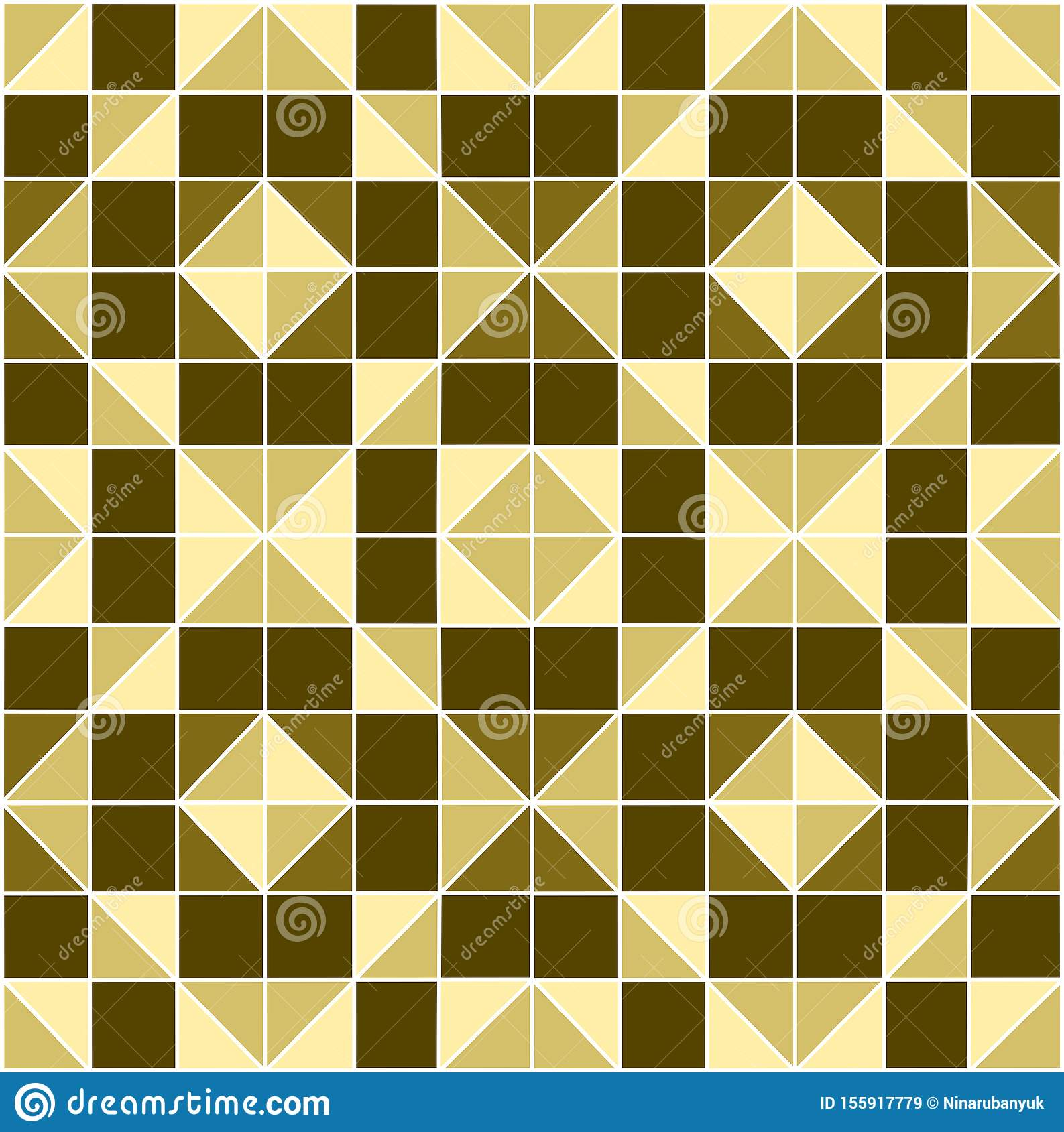 Abstract geometric mosaic background.Background from square and triangles