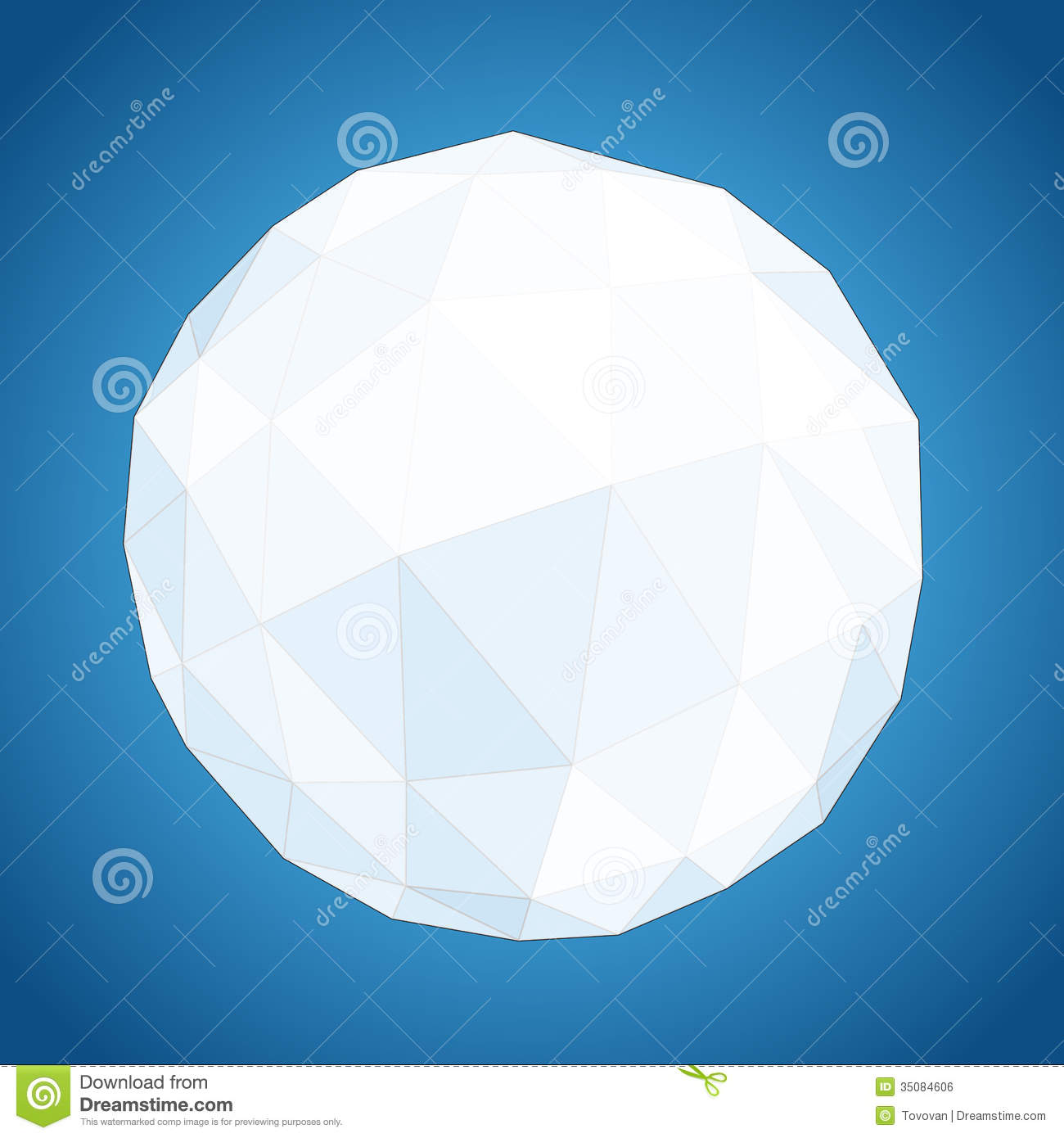 Abstract Geometric Paper Origami Sphere Stock Vector ... - photo#21