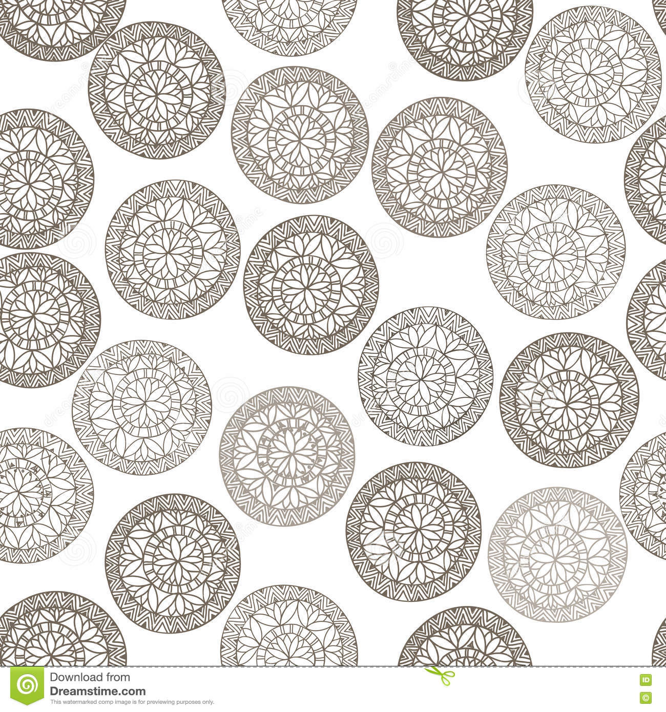 abstract geometric pattern circle ethnic ornament stock image