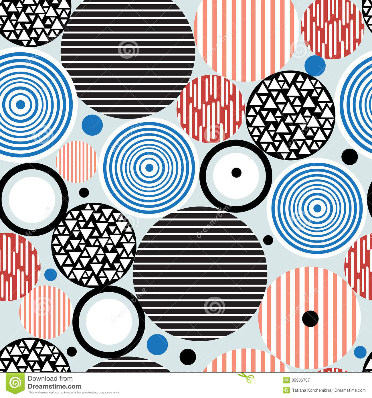 Abstract Geometric Pattern Of Circles Royalty Free Stock