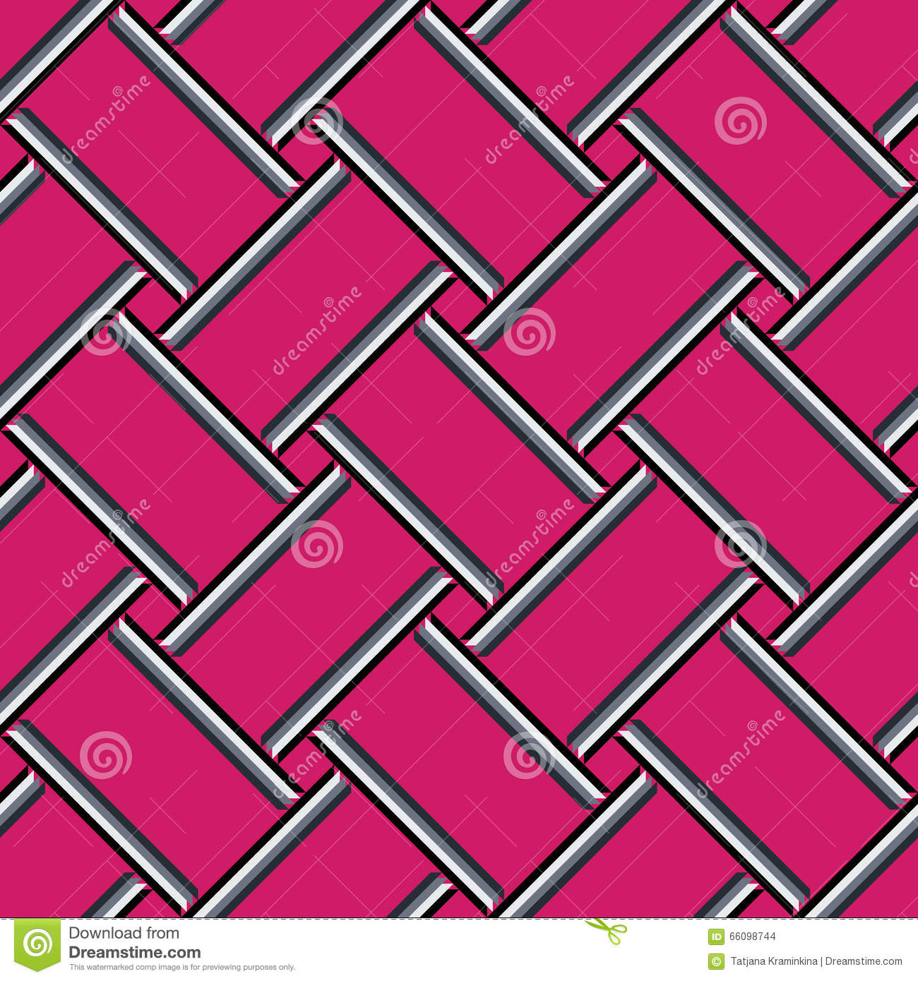 Abstract geometric pattern, colorful pink seamless background.