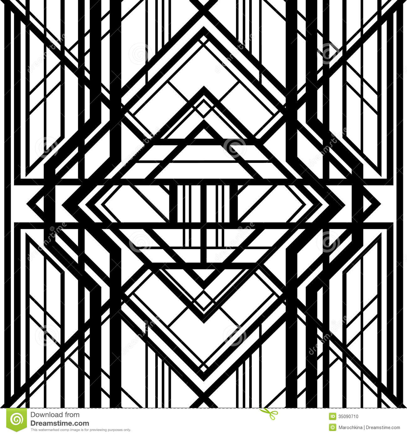 Art Deco Background And Frame Abstract Geometric Pattern Stock Photo