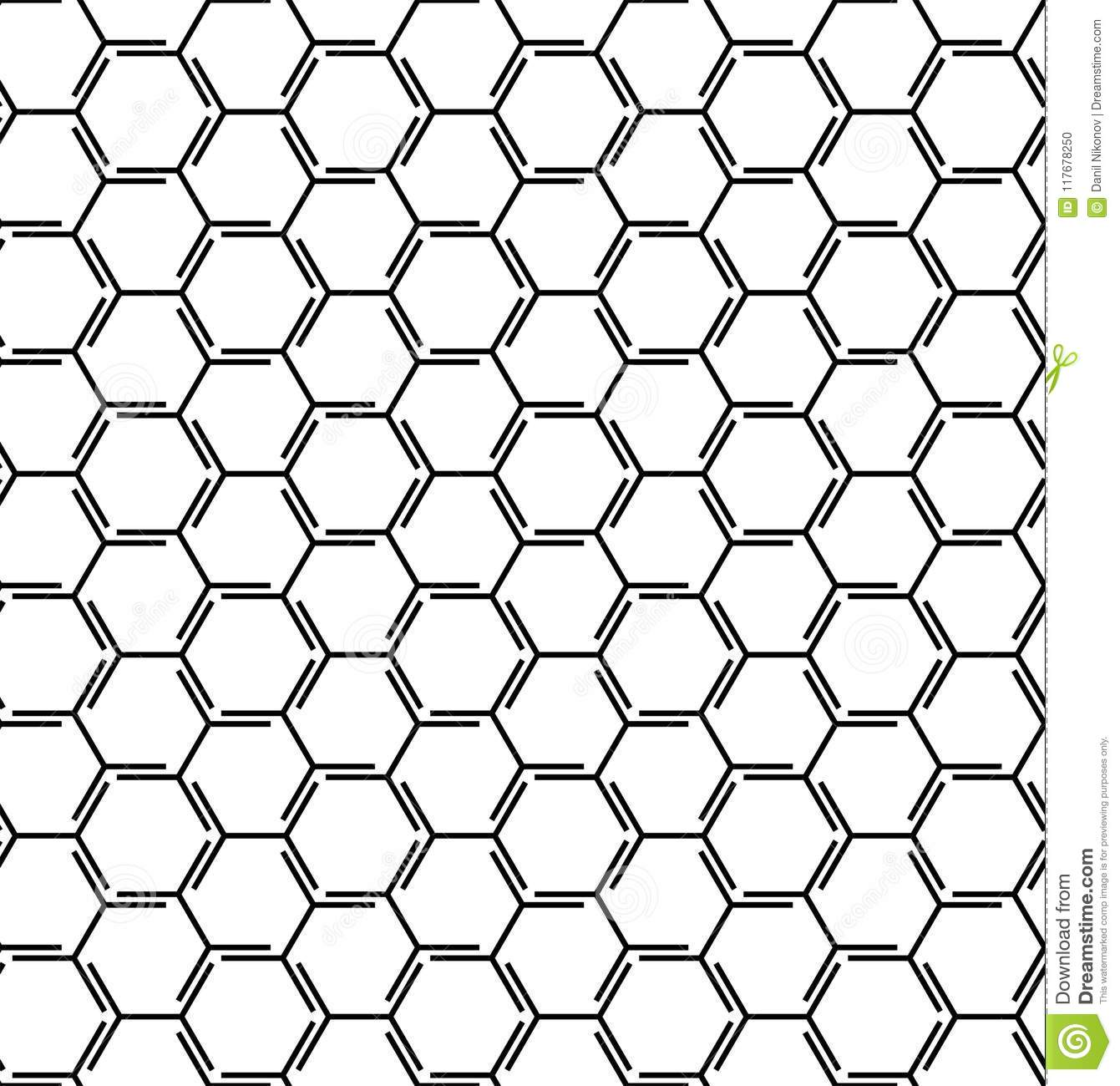 Abstract Geometric Pattern With Lines, Cubes, Hexagons
