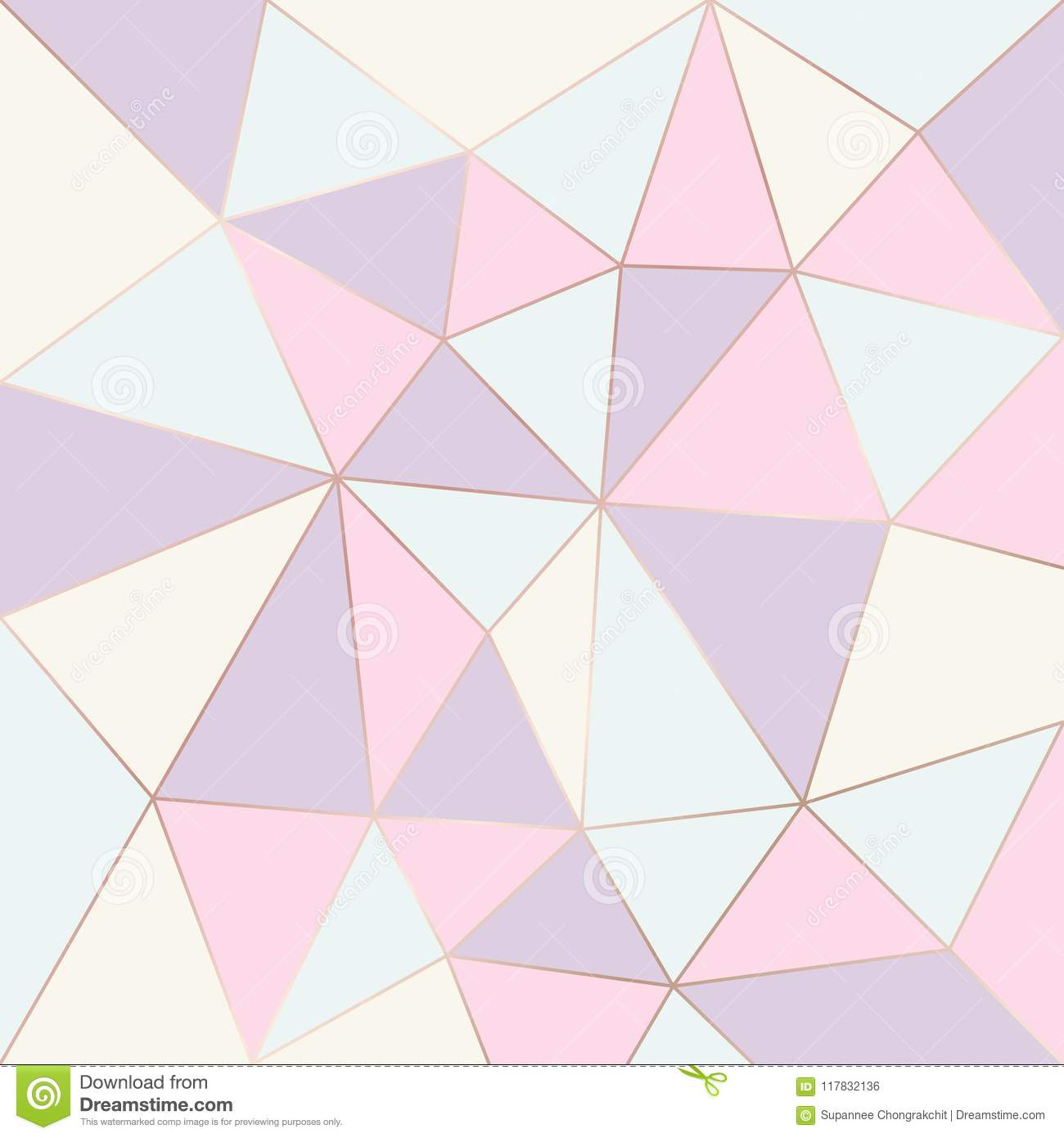 Abstract Geometric Pattern Pastel Color  Relief Triangles