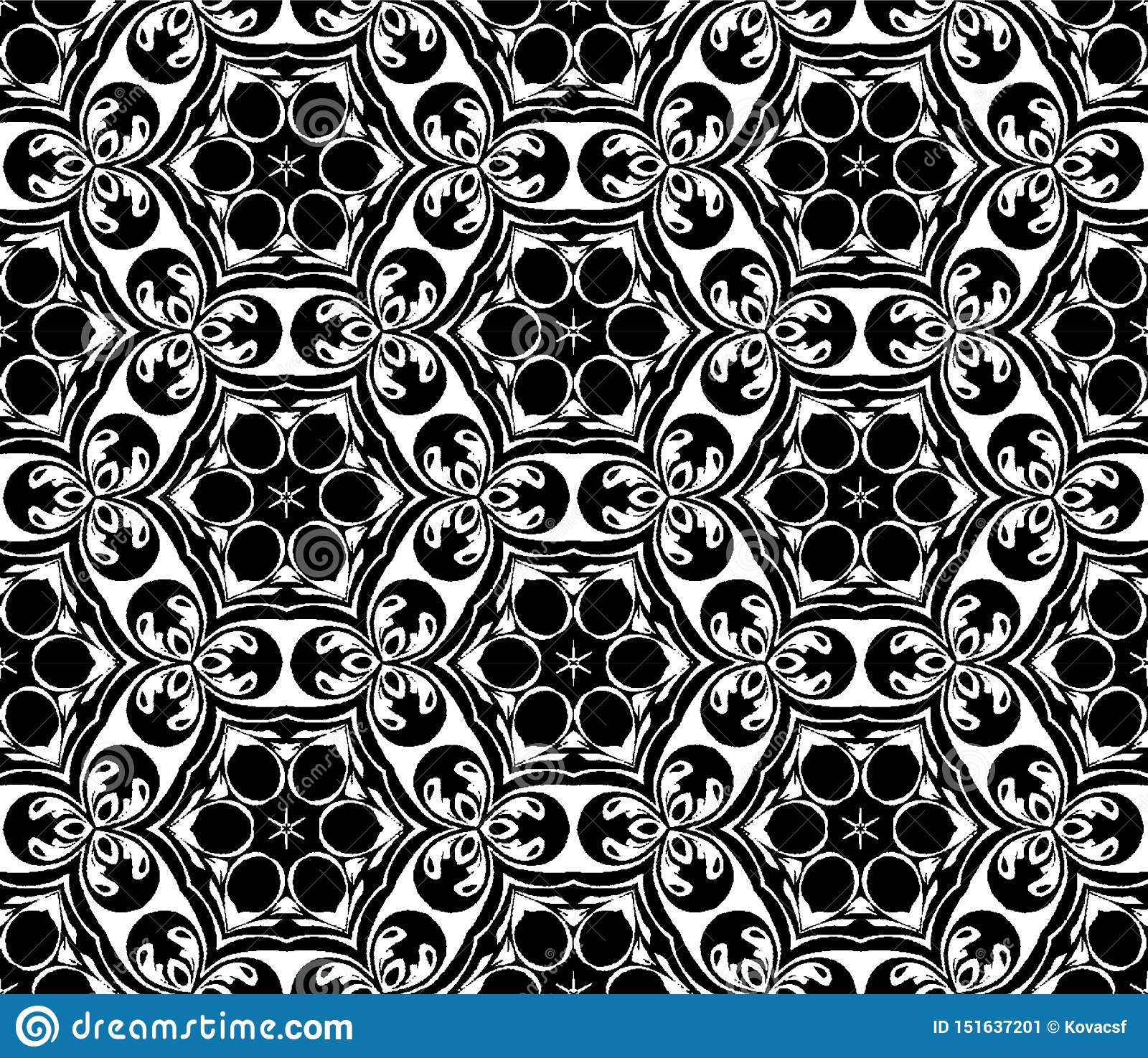 Abstract geometric repeating pattern in vector format