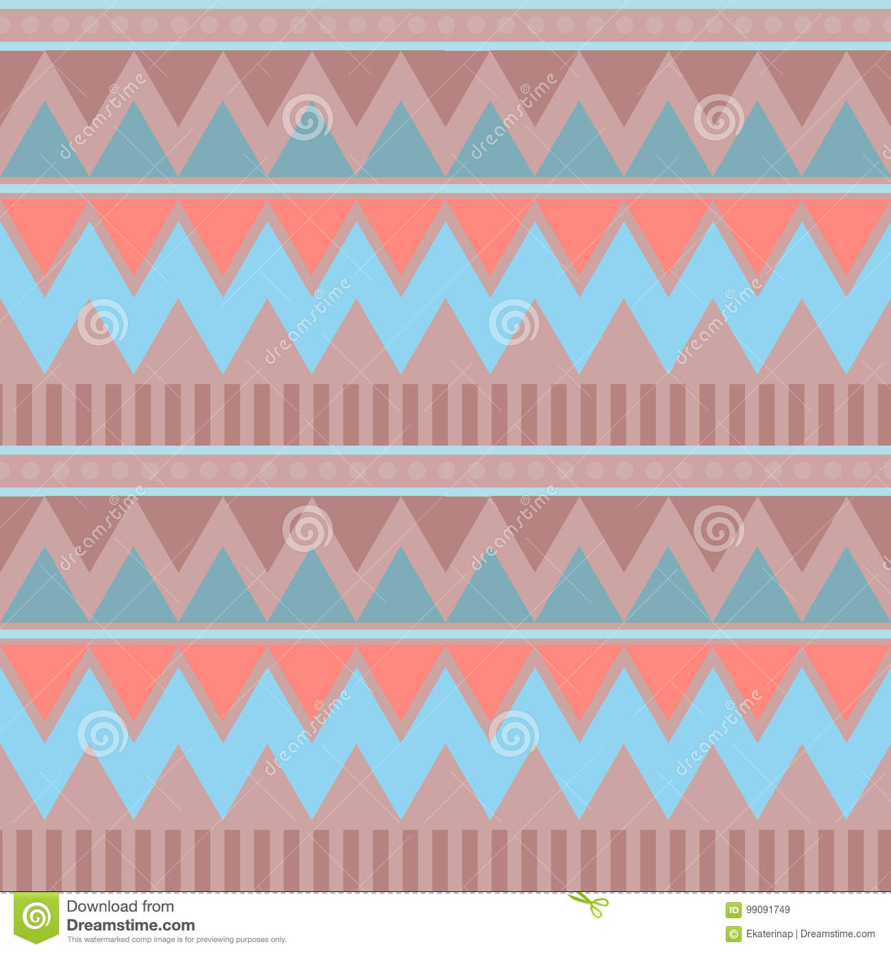 0fd210ec429be Abstract geometric seamless pattern. Aztec style with triangle and line  tribal Navajo pattern. blue