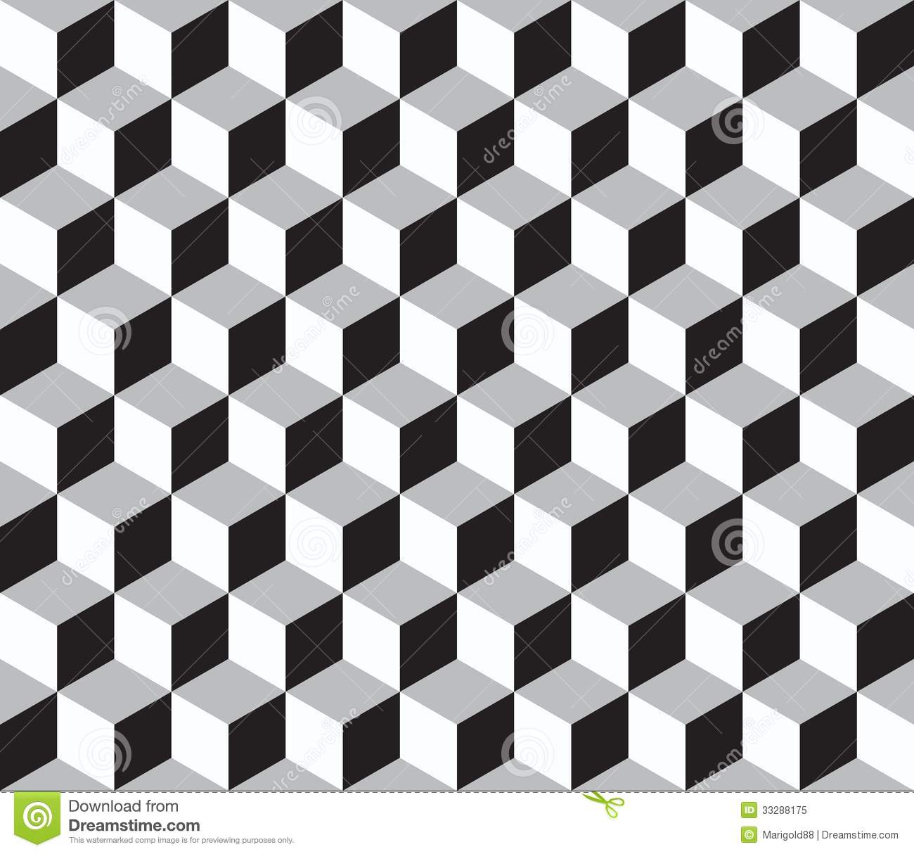 Cube Seamless Pattern Geometric Line Design Stock Vector 270487364 ...