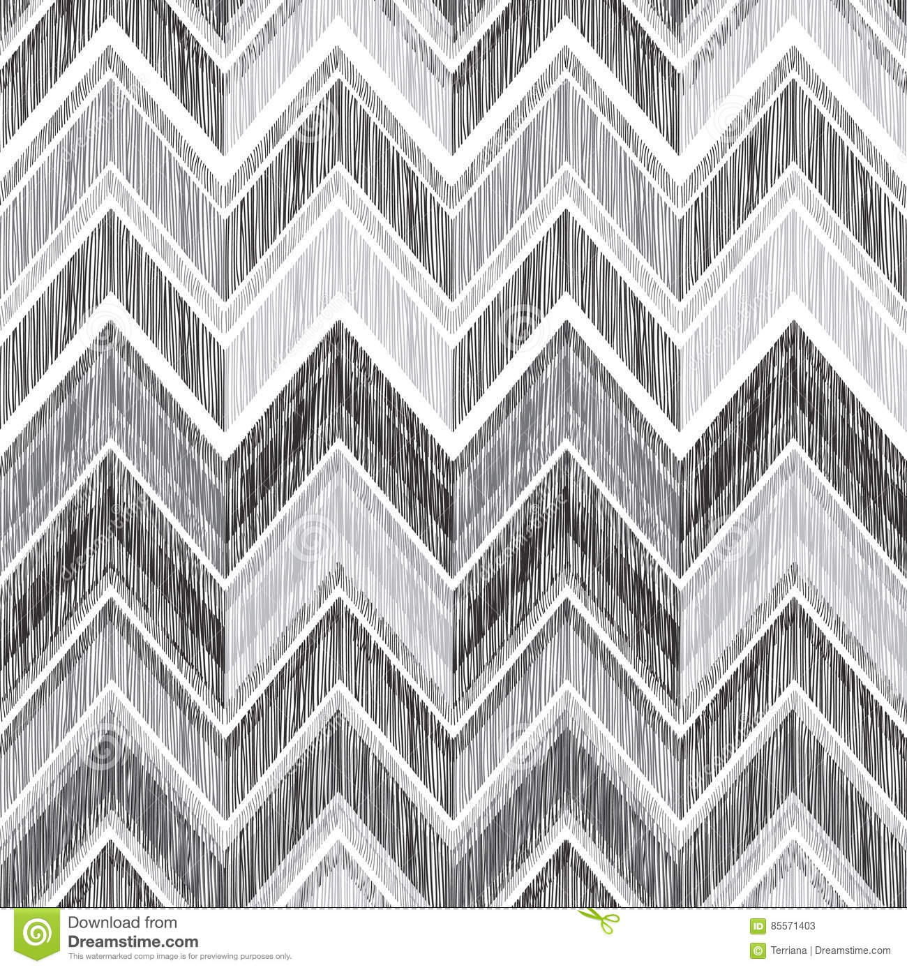 Zigzag Line Drawing : Abstract geometric seamless pattern fabric doodle zig zag