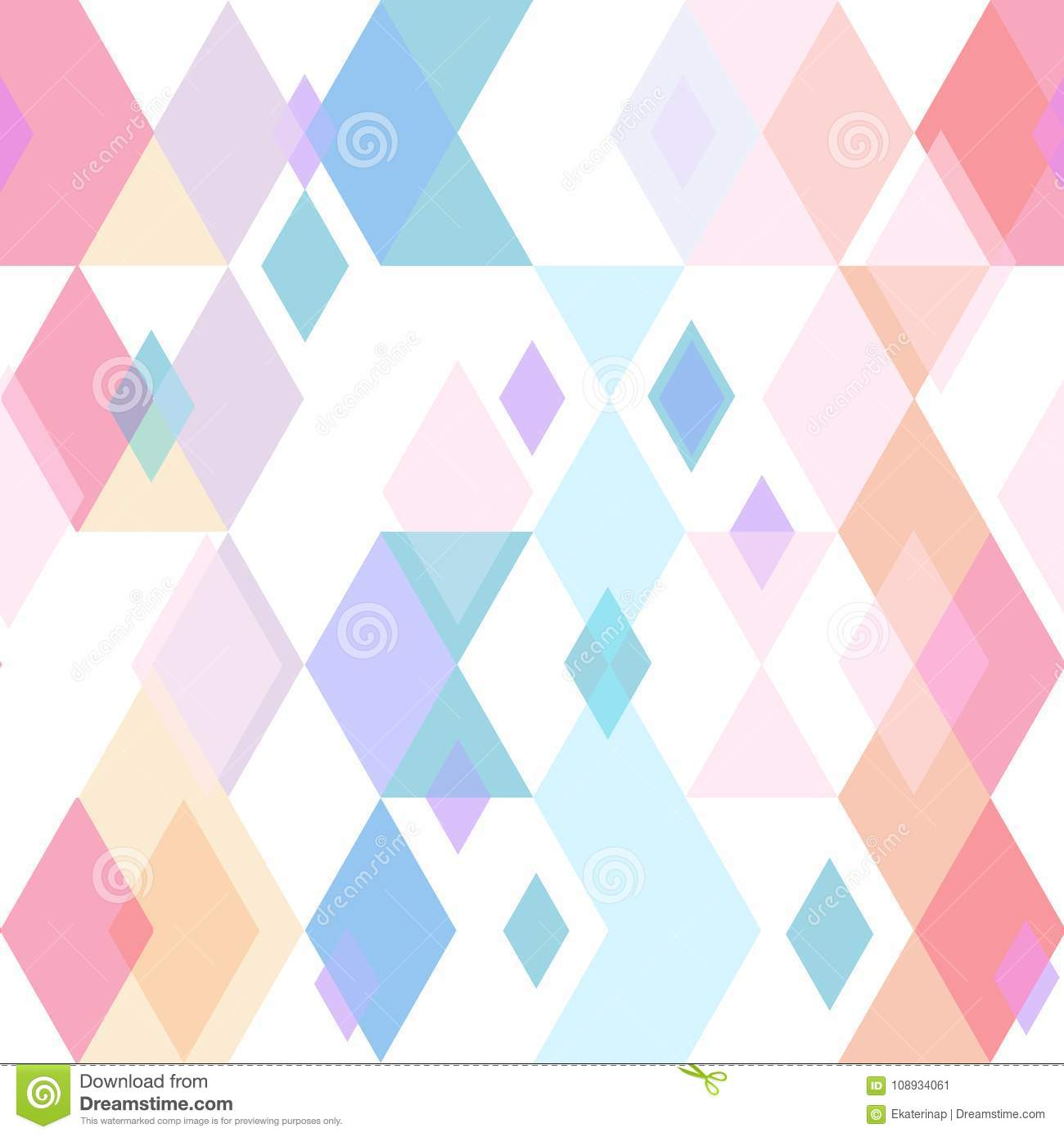 Abstract Geometric Seamless Pattern With Rhombus And Triangle ...