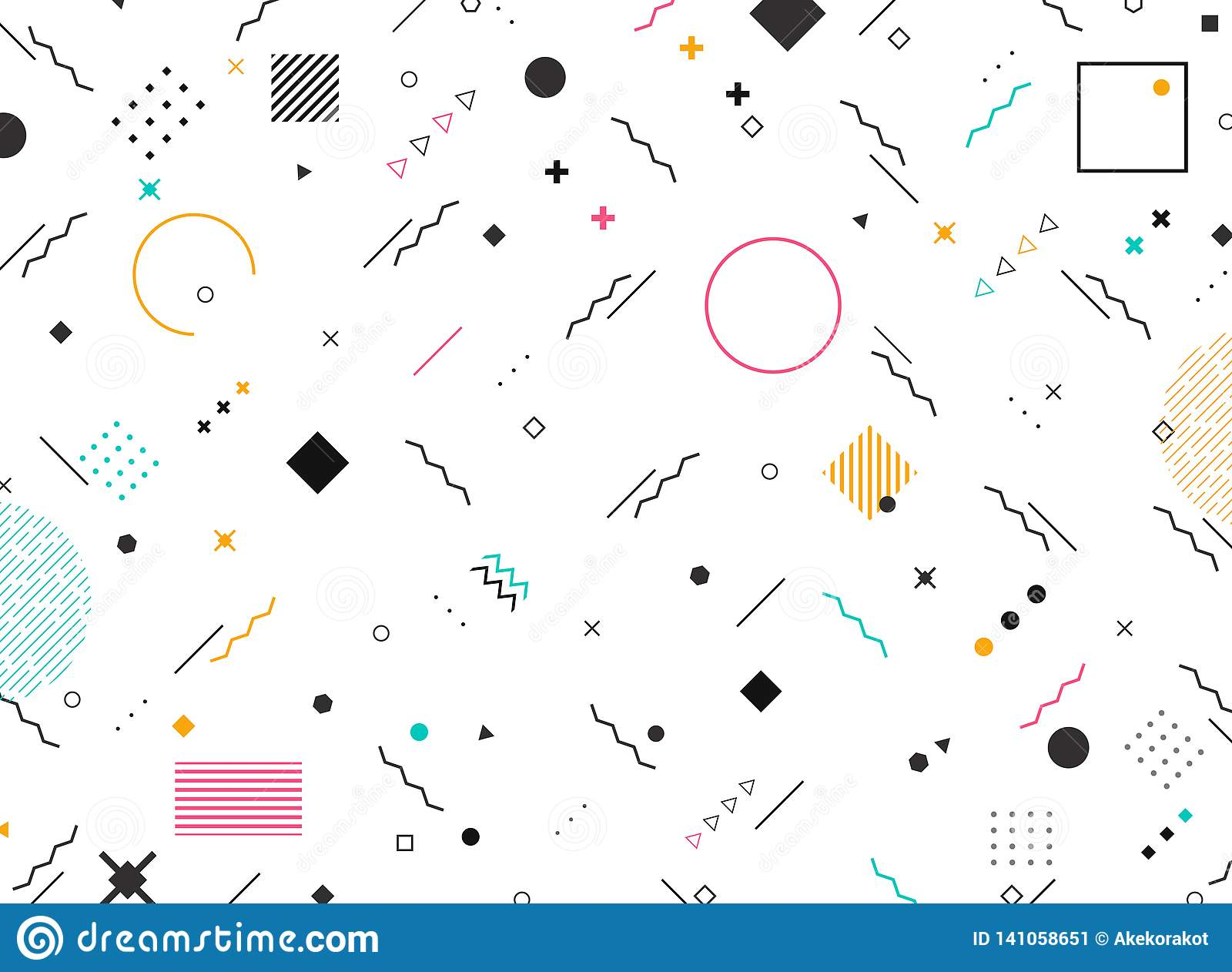 Abstract geometric shapes funky stile of colorful modern pattern background. You can use for modern design of new elements design