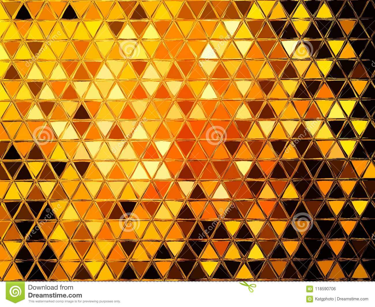 Abstract Geometric Triangle Mirrored Pattern