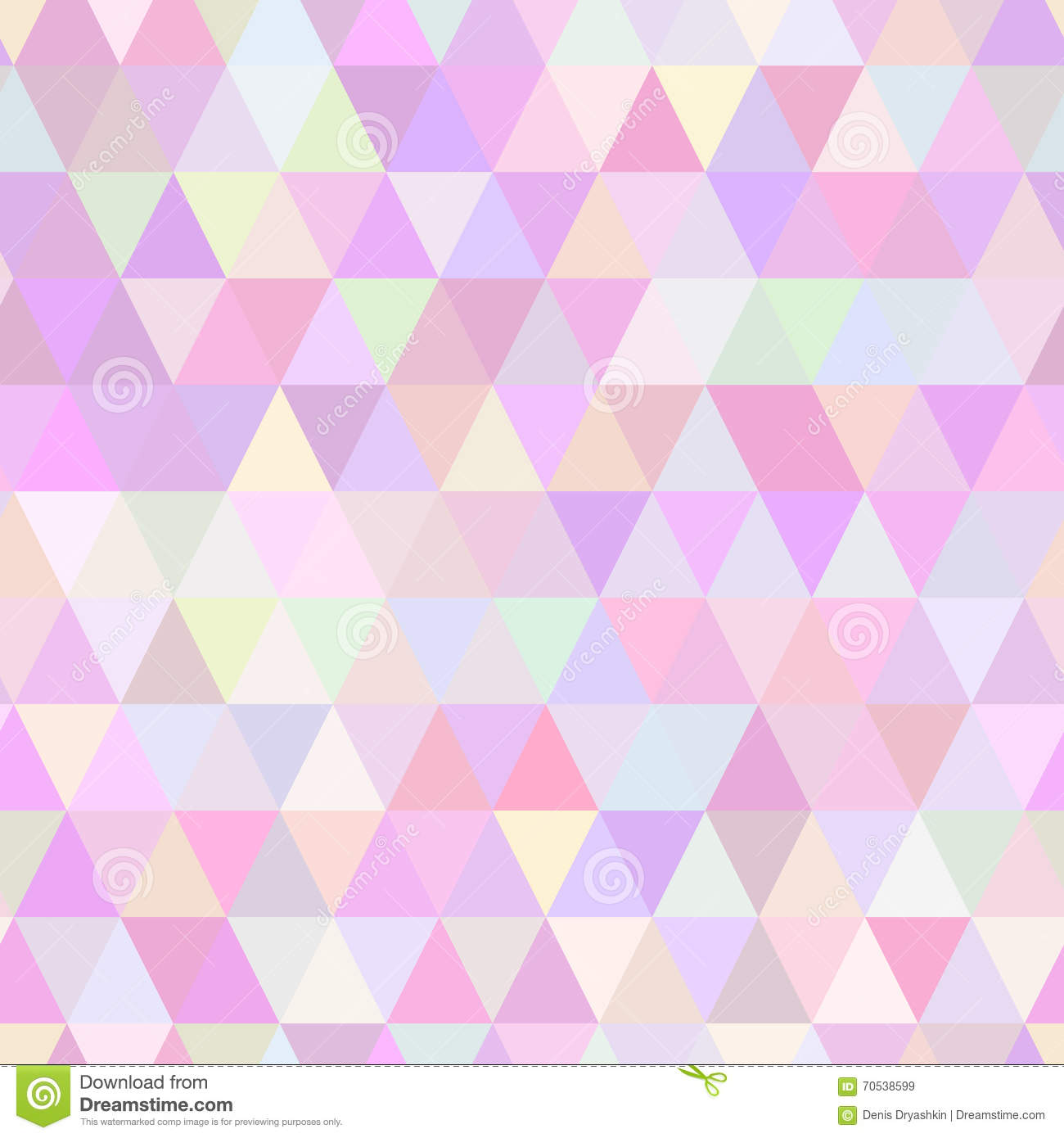 Abstract Geometric Triangle Seamless Pattern Stock Vector