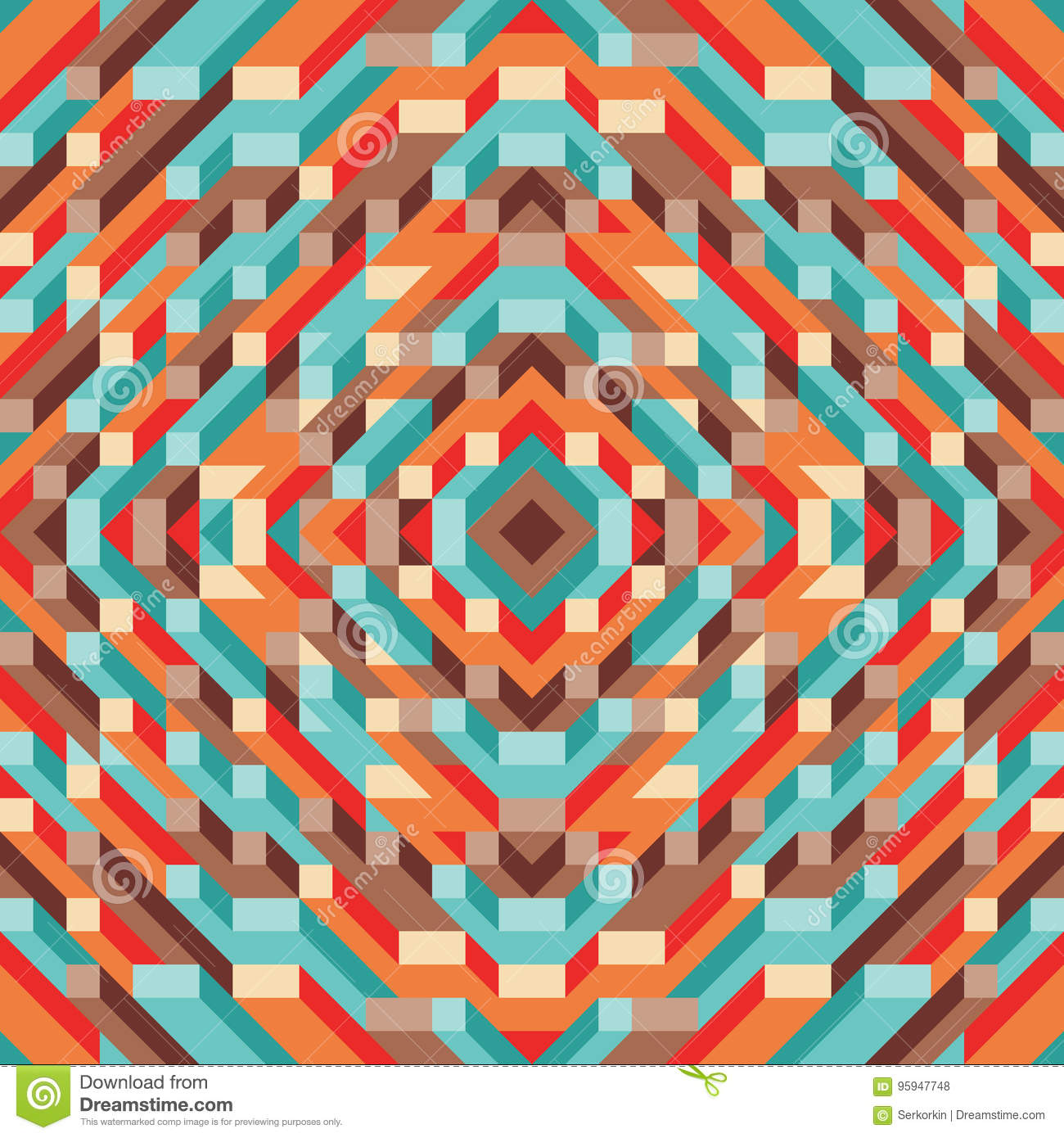 Abstract geometric vector background for presentation, booklet, website and other design project. Mosaic colored pattern with 3D.