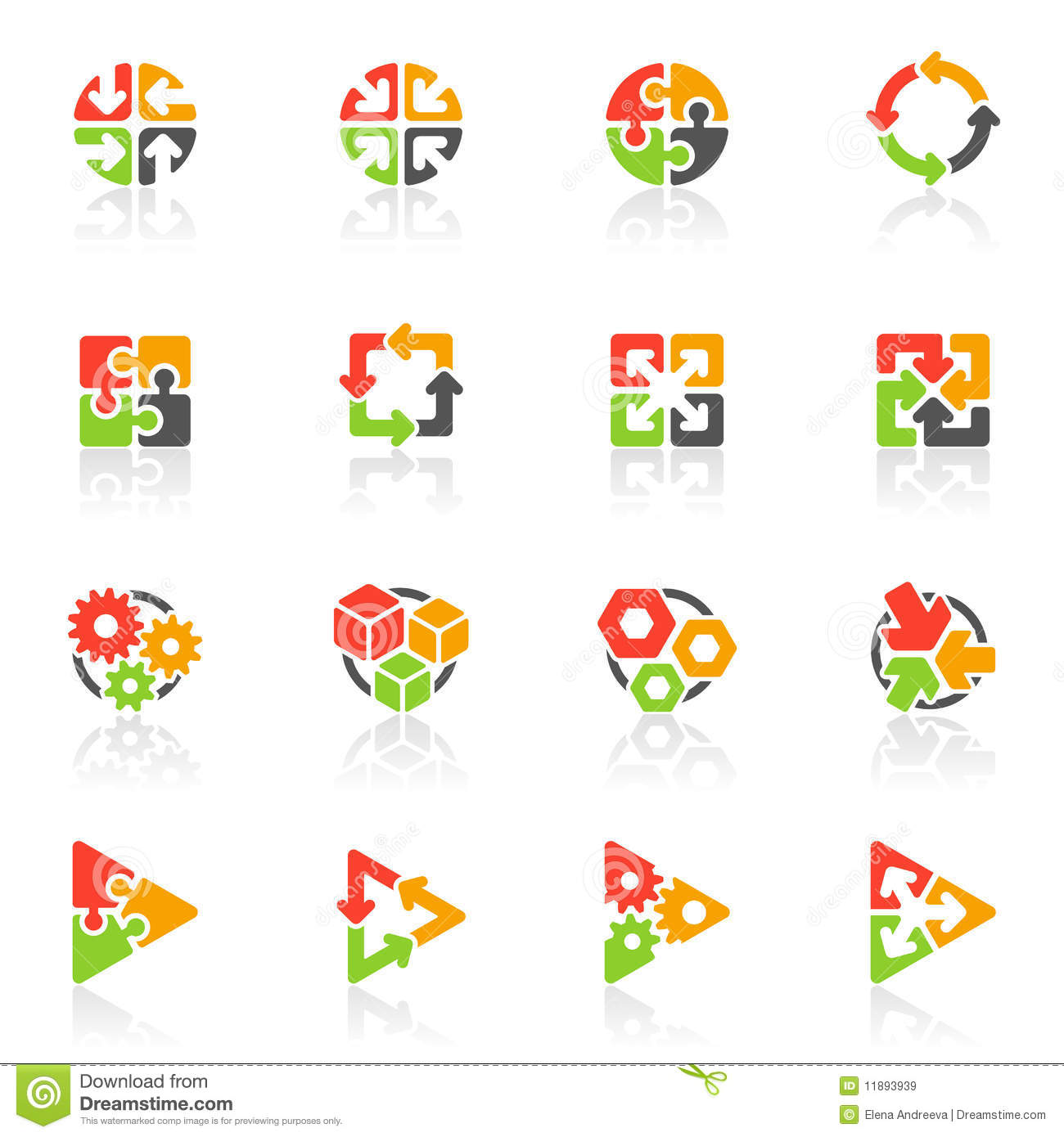 Abstract geometrical icons. Vector logo template