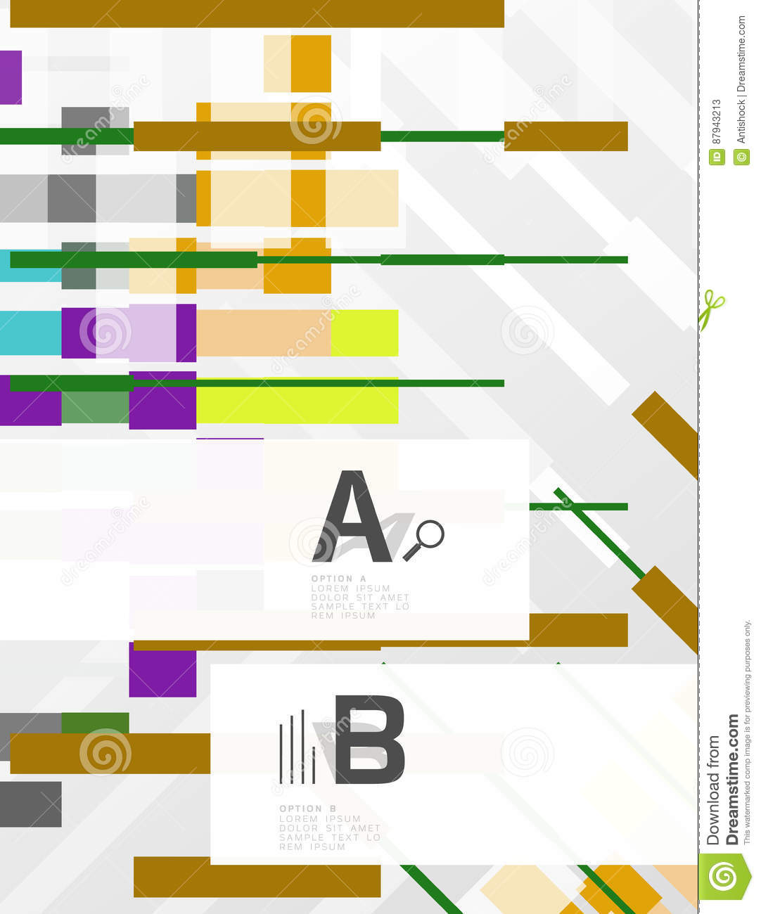Abstract Geometrical Texture With Infographic Options Stock