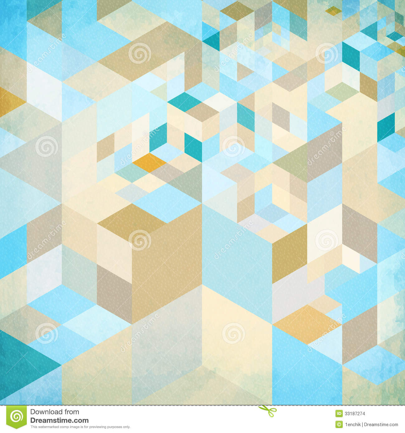 Abstract Geometry Vector Blue Background Stock Vector