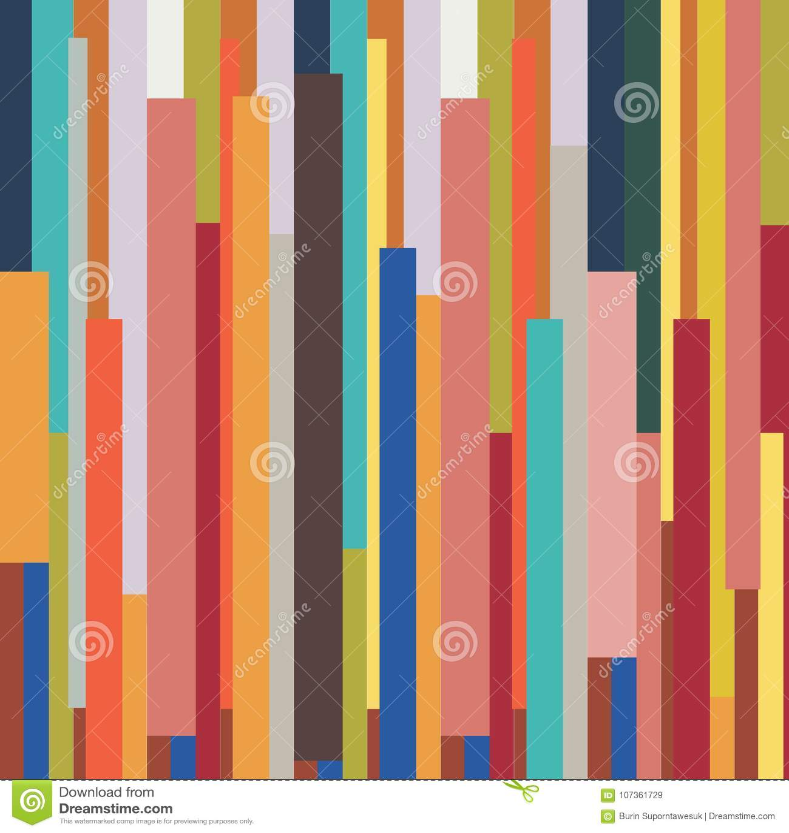 Abstract gestreept geometrisch kleurrijk uitstekend retro patroon backgr