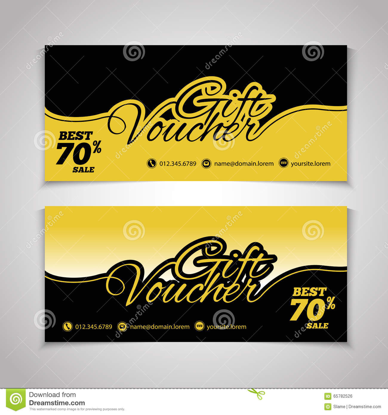 abstract gift voucher or coupon design template  voucher