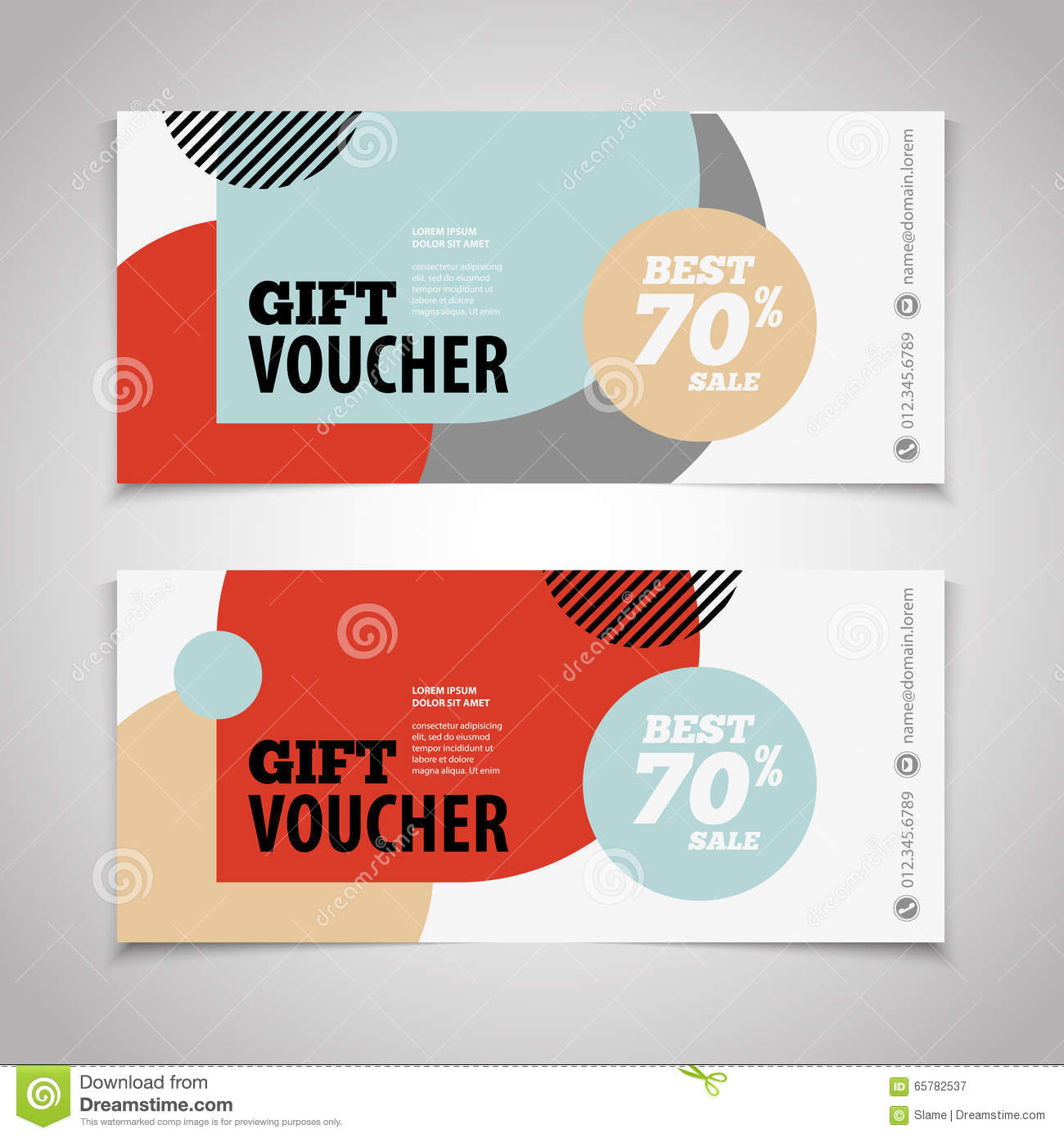abstract gift voucher or coupon design template voucher design abstract gift voucher or coupon design template voucher design royalty stock photography