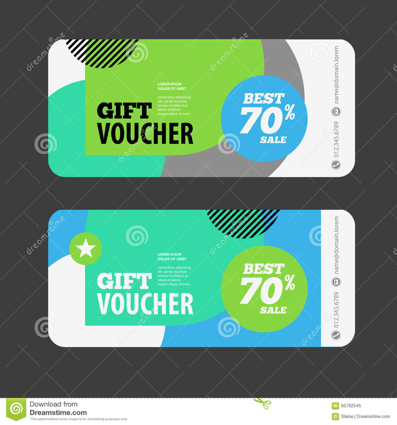 Abstract Gift Voucher Or Coupon Design Template Voucher Design – Coupon Flyer Template