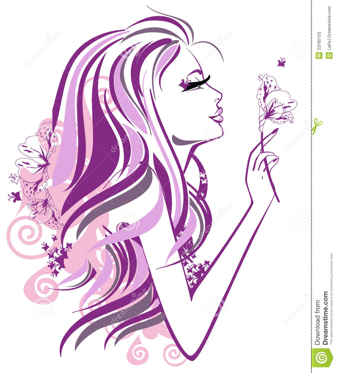 flower girl vector abstract - photo #19