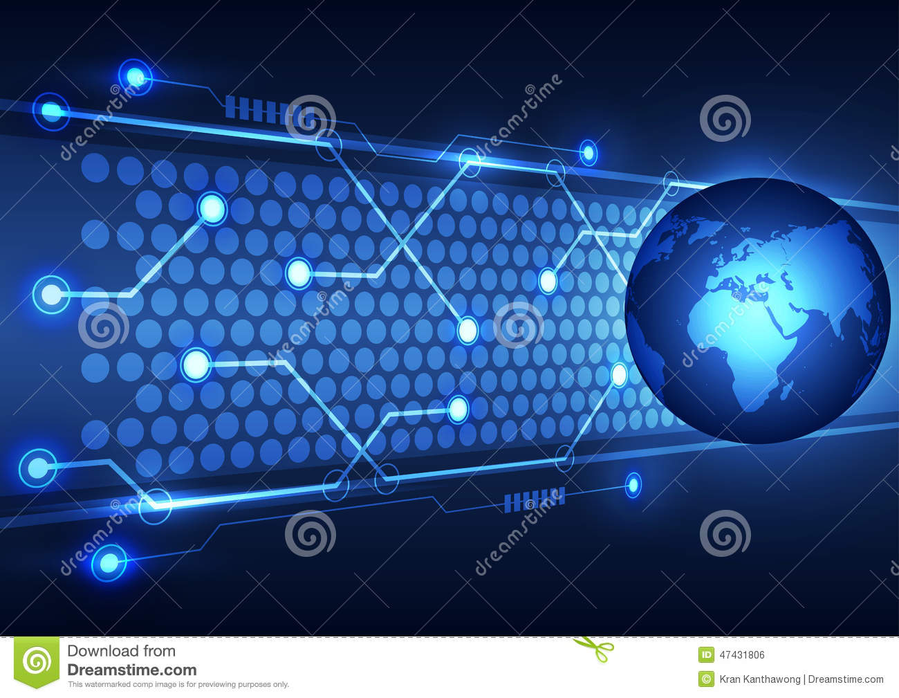 Technology Abstract Background Stock Illustration: Abstract Global Technology Business Background, Vector
