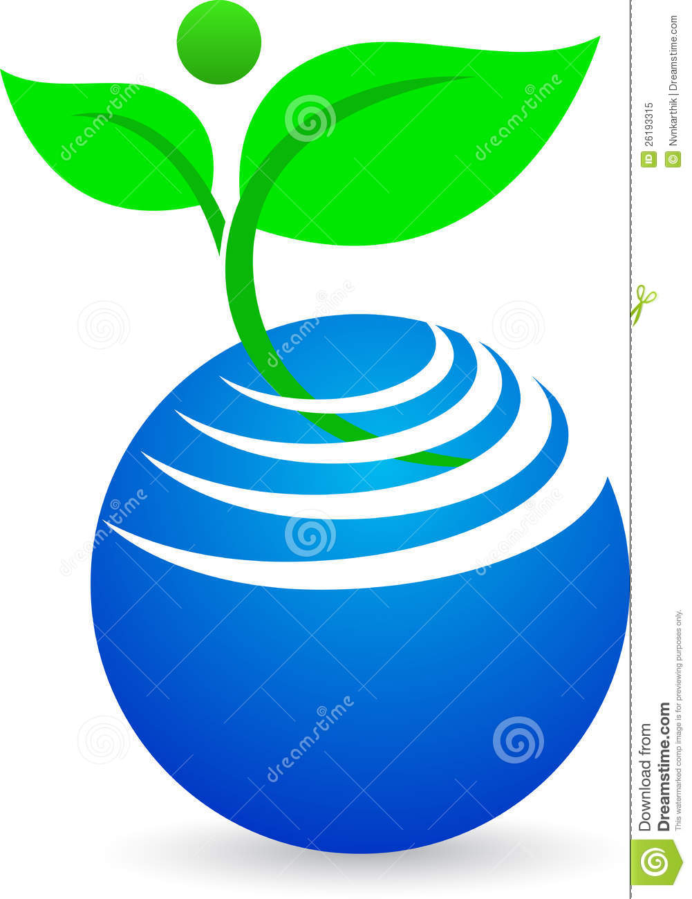 Download Abstract globe with plant stock vector. Illustration of garden - 26193315