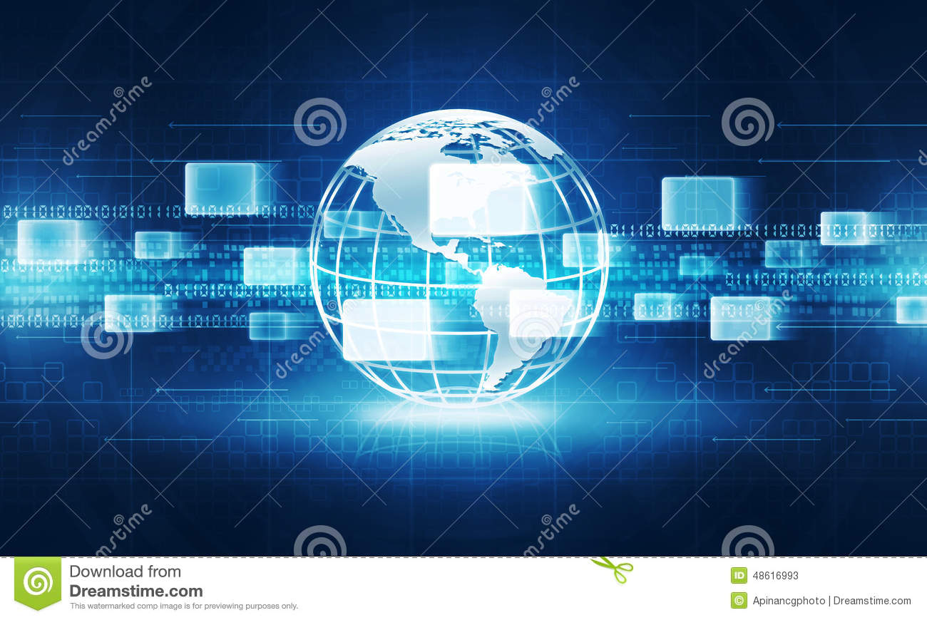 Download Abstract Globe Technology Internet Connection Background Stock Image - Image of symbol, abstraction: 48616993