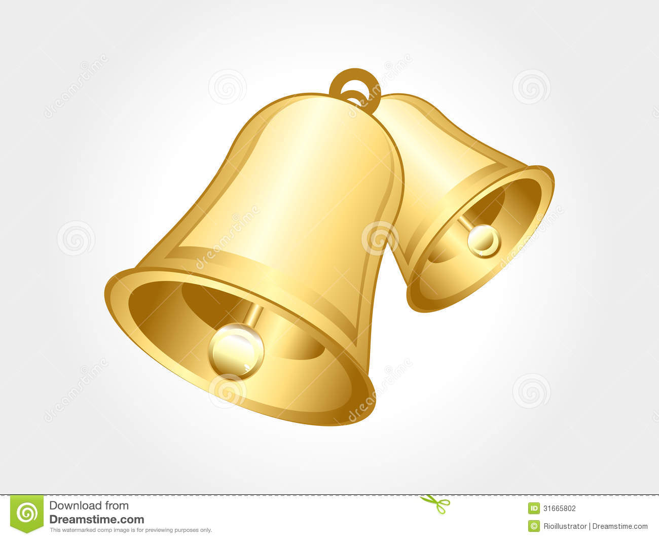 Abstract Glossy Golden Bell Stock Photography - Image ...