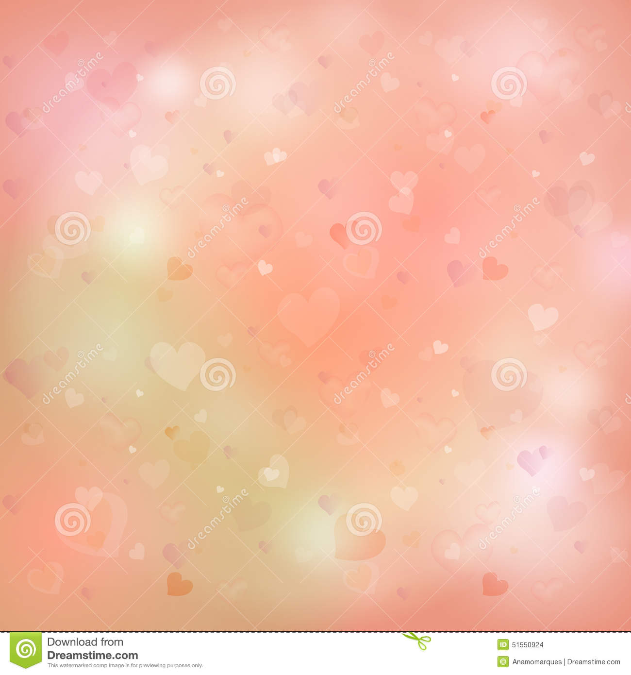 d763e73d424 Abstract Glow Soft Hearts for Valentines day Background Design.  Royalty-Free Illustration
