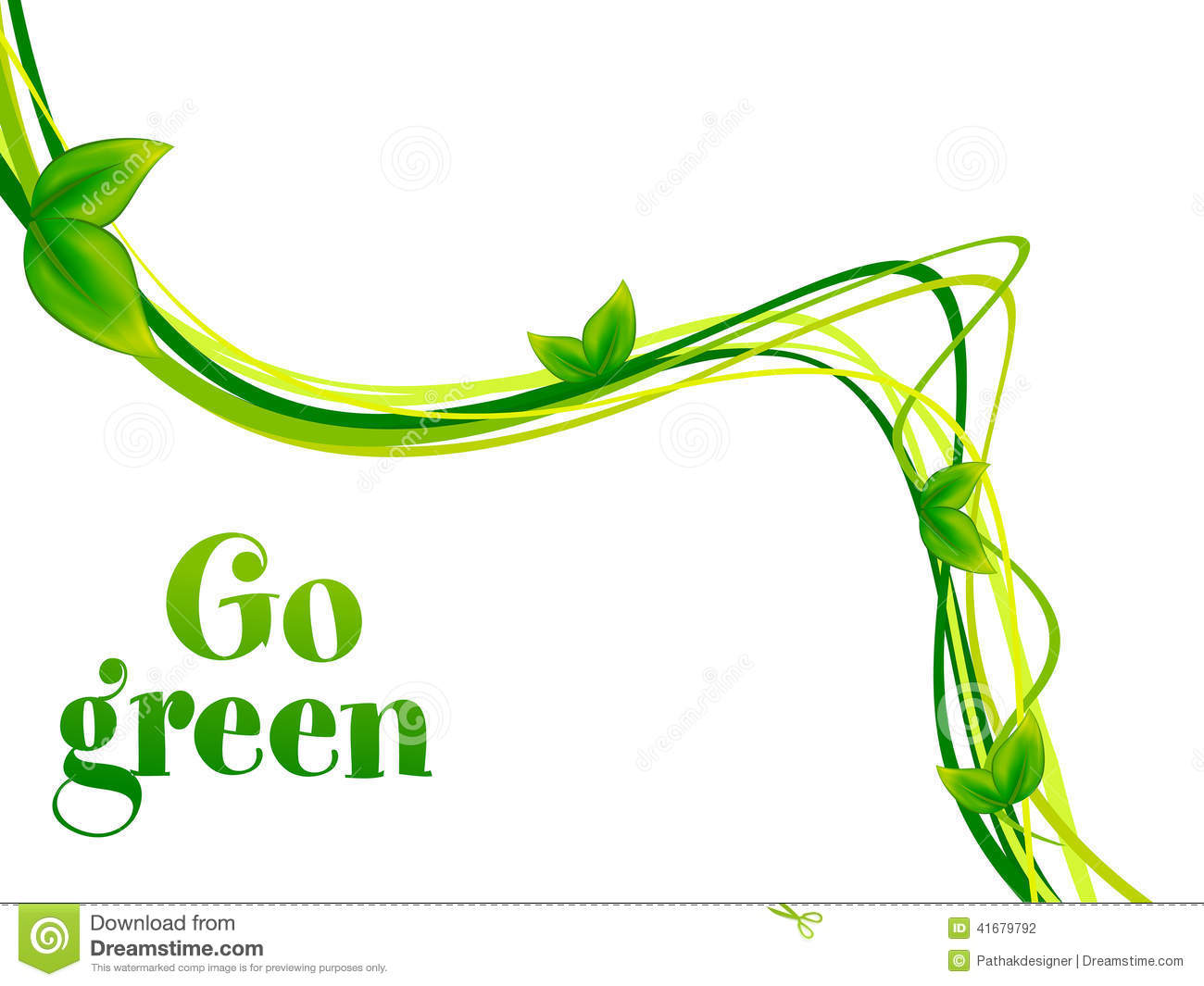 Royalty Free Vector Download Abstract Go Green Background