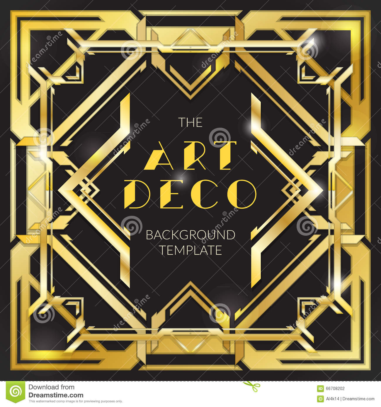 Abstract gold art deco style background stock vector for Style retro deco