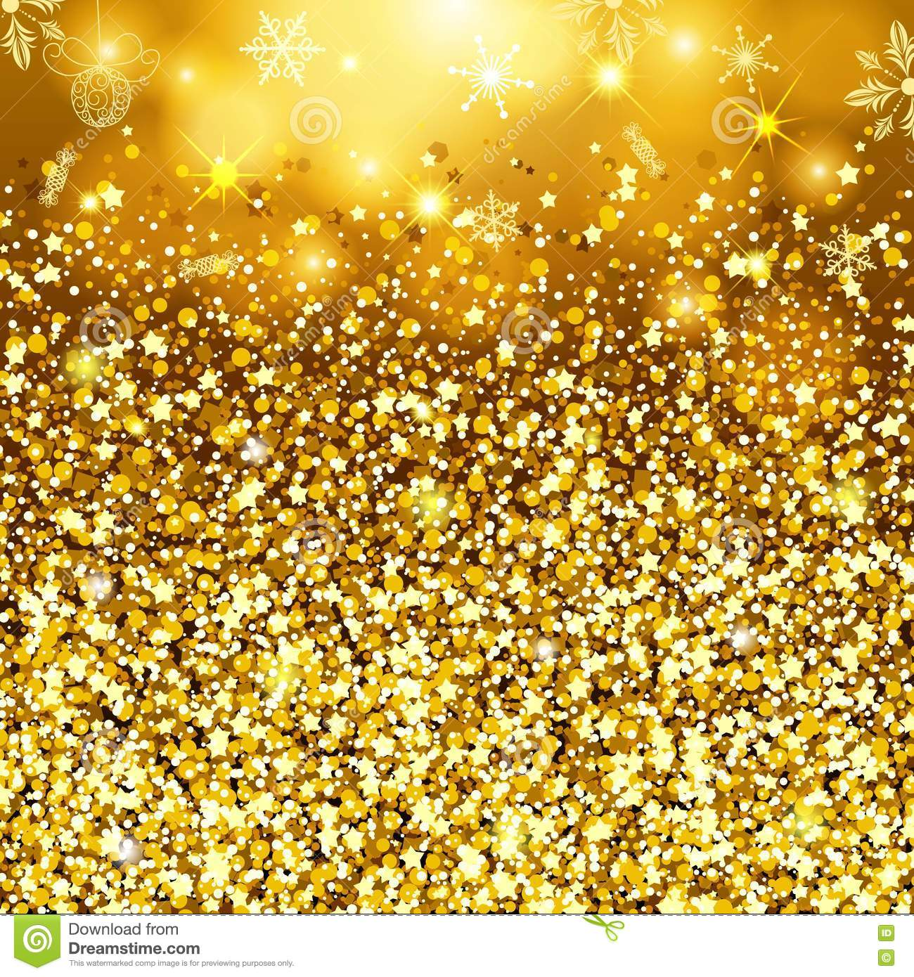 Abstract Gold Background. Golden Sparkling Sequins. Set Design ...